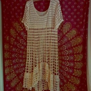 Free people New Romantics crochet dress size S
